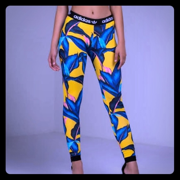 adidas leggings palm print